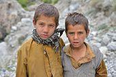 Chilas, PAKISTAN - OCTOBER 20 : Unidentified Pakistani boys in Chilas, Pakistan on 20 th October, 20