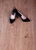 Women shoes with on floor
