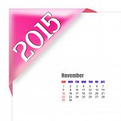 2015 November calendar