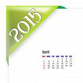 2015 April calendar