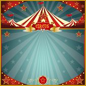 Night fun circus square. A circus greeting square card for you.