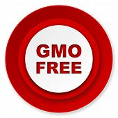 gmo free icon, no gmo sign