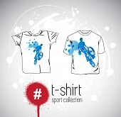 Vector. Man's t-shirt design with sport elements