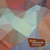 Abstract triangle geometrical muted color background, Vector.