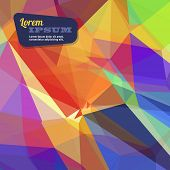 Abstract triangle geometrical bright rainbow edge background, Vector.