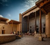 Inner yard in the ancient town of Ithcan Kala, city of Khiva, Uzbekistan