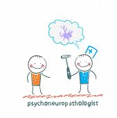 psychoneuropathologist  speaks with the patient about the nerve cells