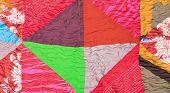 Geometric Pattern Of Silk Patchwork Quilt