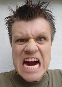 stock photo of lunate  - angry man - JPG