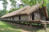picture of hmong  - hut old Vietnamese Hmong tribe in Hanoi - JPG