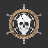 foto of skull crossbones flag  - Skull Pirate - JPG