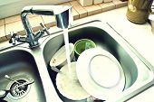 stock photo of dirty  - Kitchen conceptual image - JPG
