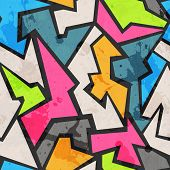 stock photo of graffiti  - grunge colored graffity seamless pattern   - JPG