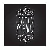 pic of lenten  - Lenten menu hand - JPG