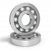 stock photo of ball bearing  - A pair of ball bearings - JPG