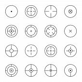 image of sniper  - set of different types of crosshair - JPG