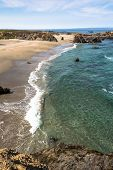 pic of mendocino  - A sand beach along Fort Bragg coast - JPG