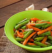 picture of sauteed  - Sauteed green beans with carrots - JPG