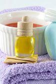 stock photo of massage oil  - Aromatic pleasure - JPG