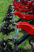 stock photo of cultivator-harrow  - Equipment for agriculture presented to an agricultural exhibition - JPG