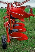 image of cultivator-harrow  - Equipment for agriculture presented to an agricultural exhibition - JPG