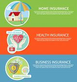 stock photo of risk  - Insurance icons set concepts of home insurance - JPG