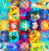 foto of geometric  - Abstract geometric background - JPG
