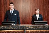 stock photo of receptionist  - Welcome to the hotel - JPG