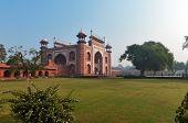 stock photo of india gate  - Main Gate to Taj Maha in the morning  - JPG
