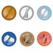 stock photo of wheat-free  - Stickers for allergen free products - JPG