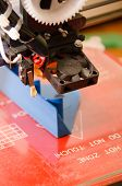 picture of thermoplastics  - 3d printer with print head in focus