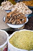 stock photo of cumin  - A number of Indian spices such as cinnamon coriander cumin and pepper