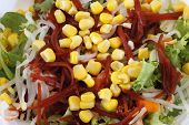 pic of sweet-corn  - mixed salad with lettuce sweet corn beet tomato - JPG