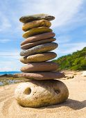 stock photo of fulcrum  - Simplicity in Inspiration Stone Tower  - JPG