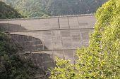 stock photo of dam  - Dam of Valvestino Valley - JPG