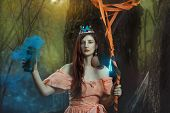 Постер, плакат: Girl Fairy In The Magical Forest