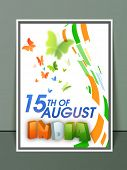 pic of indian independence day  - Creative template - JPG