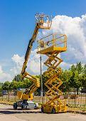 foto of hydraulics  - Two types of mobile aerial work platform  - JPG