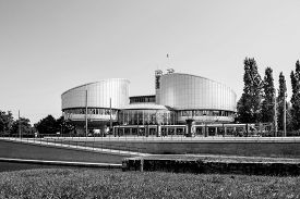 picture of human-rights  - European Court of Human Rights building in Strasbourg France - JPG