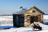 Old Country Schoolhouse In The Winter