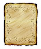 Old Parchment Paper With Decorative Border