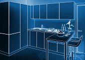 indoor kitchen 3d