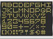 alfabeto de ponto preto visor eletrônico (vector eps10)