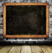 Vintage interior with school blackboard