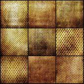 Gold metal grid set