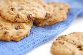 Cookies On Blue  Towel