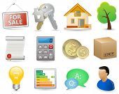 Real Estate Icon Set. Raster version of vector illustration - image #45100393