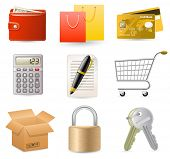 foto of internet shop  - Web Shop icon set - JPG