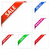 Collection of sale corner ribbons