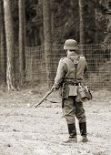 Wehrmacht soldier - WW2 battlefield - Europe